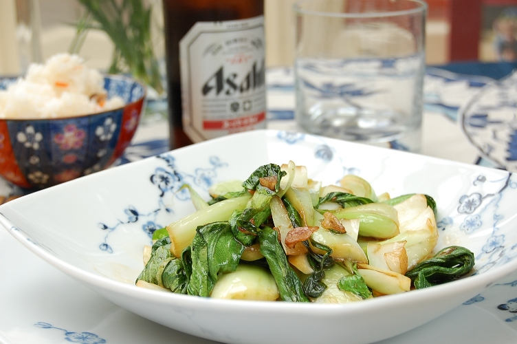 3分クッキング☆チンゲン菜の簡単本格中華炒め_d0104926_0193952.jpg