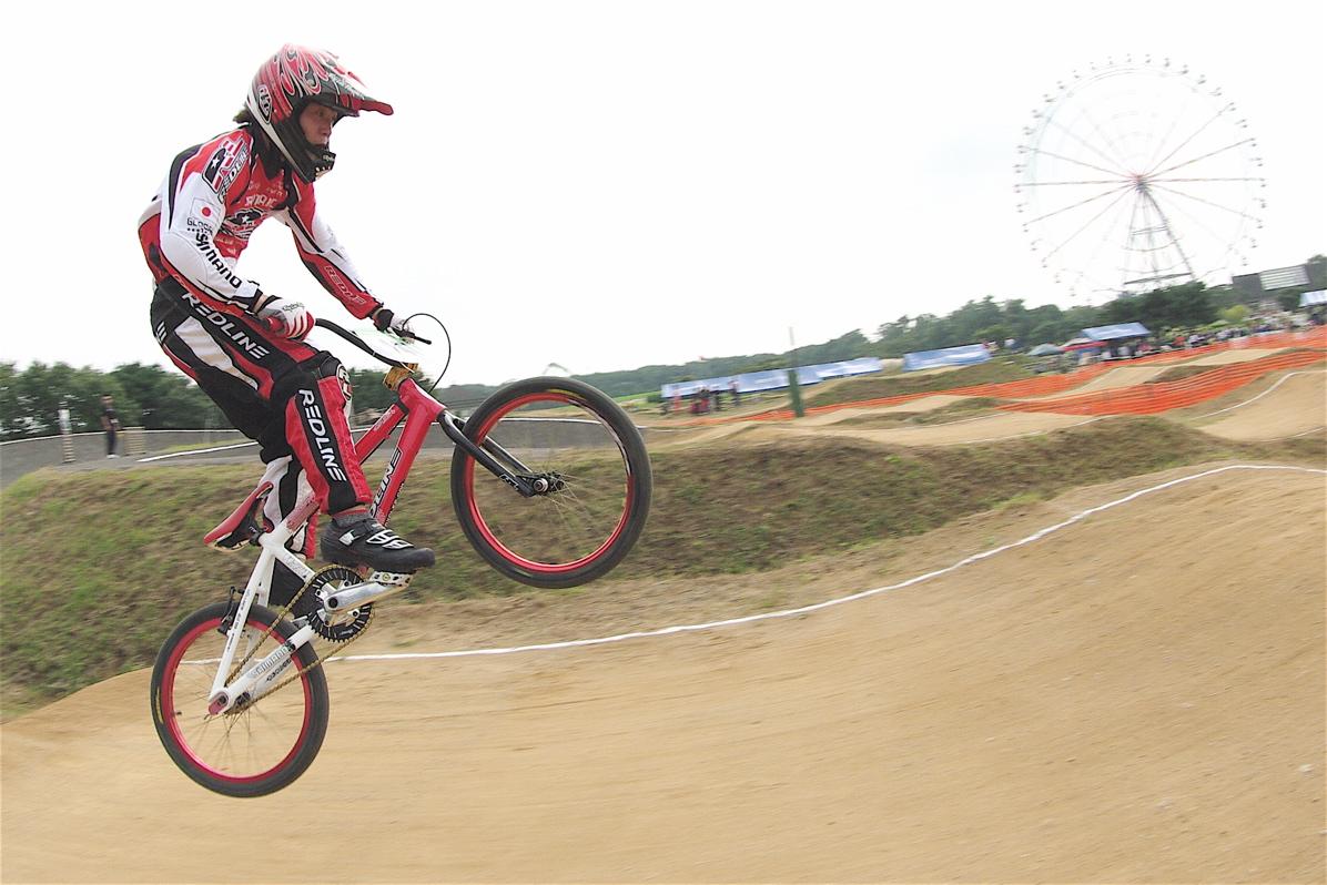 第55回全日本プロ選手権自転車競技大会BMX競技INひたち:公式練習の風景_b0065730_2225473.jpg
