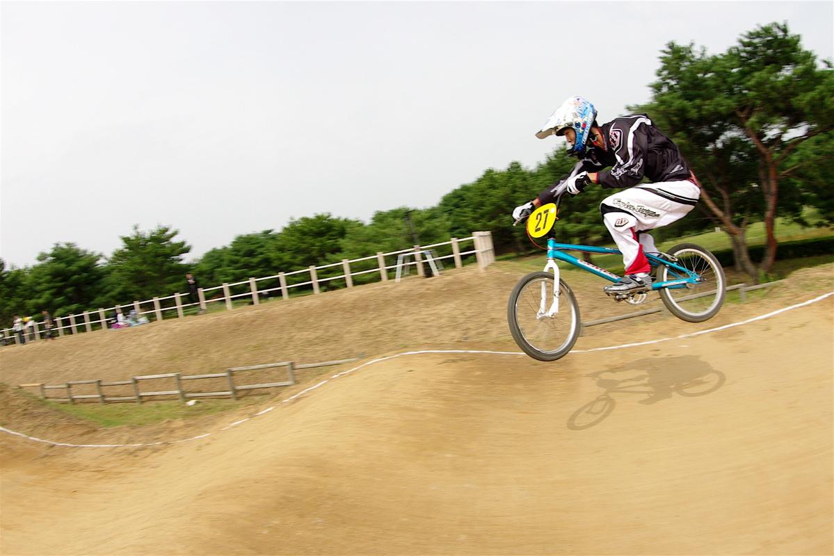 第55回全日本プロ選手権自転車競技大会BMX競技INひたち:公式練習の風景_b0065730_2241385.jpg