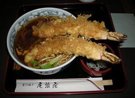 浅草の尾張屋支店で天ぷら蕎麦を検証す_c0030645_1464385.jpg