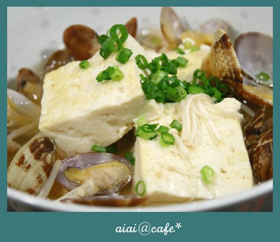旨味たっぷり♪アサリと豆腐のサッと煮_a0056451_16192495.jpg