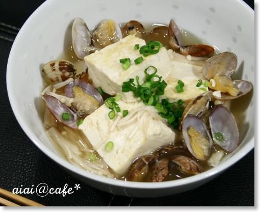 旨味たっぷり♪アサリと豆腐のサッと煮_a0056451_16204244.jpg