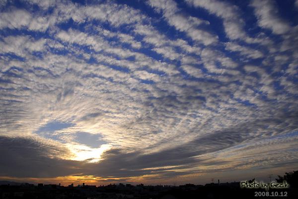 10月12日の福岡 うろこ雲_d0147591_18363916.jpg