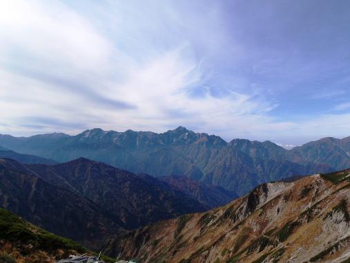 秋晴れの唐松岳_c0177814_1135172.jpg