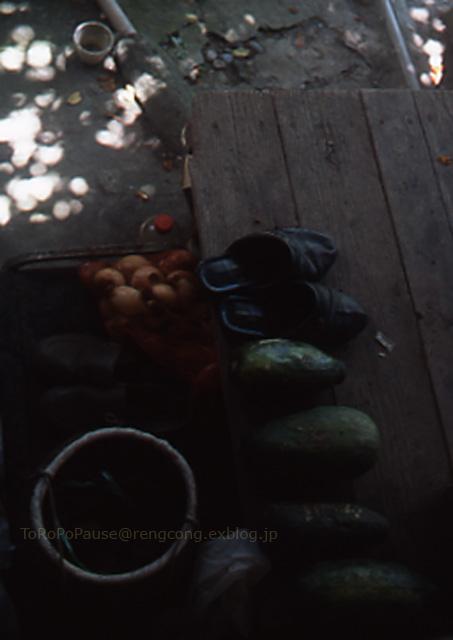 サンダルと緑のうり_e0132518_2384241.jpg