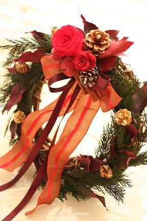 クリスマスリース教室_c0146921_19452079.jpg