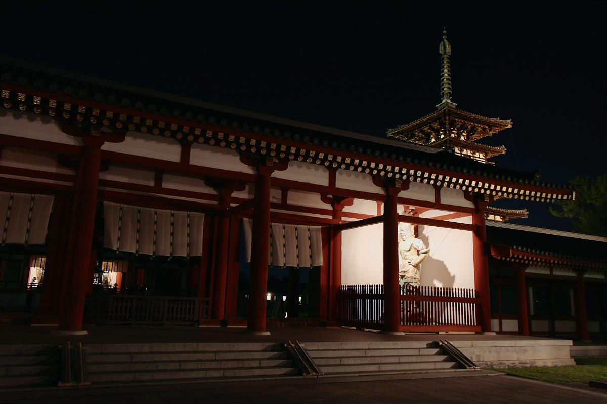 奈良 薬師寺万燈会  1_f0021869_23364613.jpg