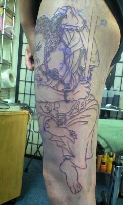 彫あい最新刺青画像・「不動明王」「龍」です。_b0072539_3153254.jpg