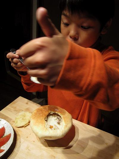 栗とキノコの壺焼き。_f0162861_11155891.jpg