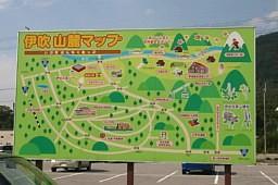 伊吹の里周辺の看板地図