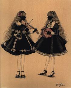 展覧会■10/22-27 「アリスの庭園~薔薇の小部屋~」(香莉みあき)【絵画(ペン画)】_e0091712_1418483.jpg
