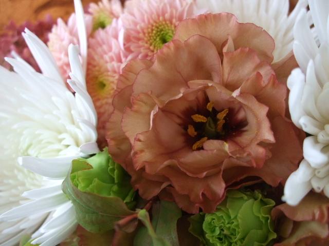 オークリーフ(秋色ミナズキとアナスタシアの花束)_f0049672_1673957.jpg
