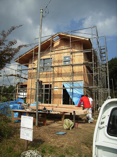 Eさんの家 現場打合せ+外壁塗装 2008/10/20~21_a0039934_18503413.jpg