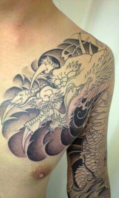 彫あい最新刺青画像・「龍」です。_b0072539_445738.jpg