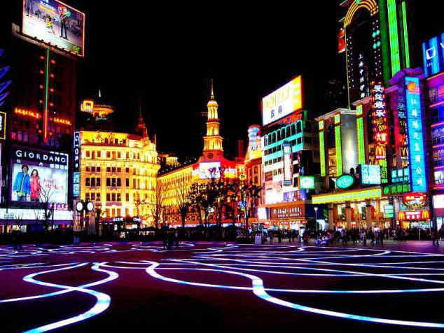 ■上海の風景・夜の南京路歩行街_e0094583_1822024.jpg