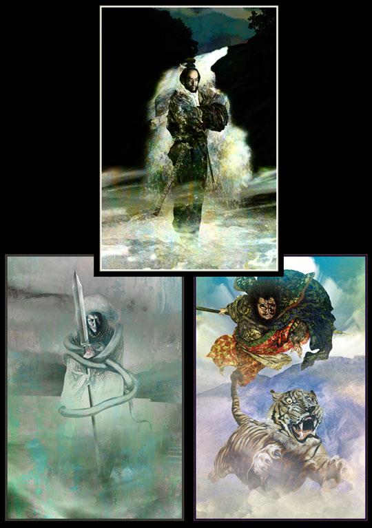 水滸傳絵詞之二『少華山の三傑』_b0145843_1511615.jpg