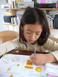 ユキちゃんと学校の宿題_f0106597_22154426.jpg