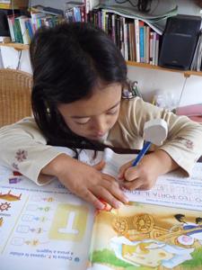 ユキちゃんと学校の宿題_f0106597_22163654.jpg