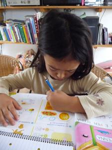 ユキちゃんと学校の宿題_f0106597_22175255.jpg