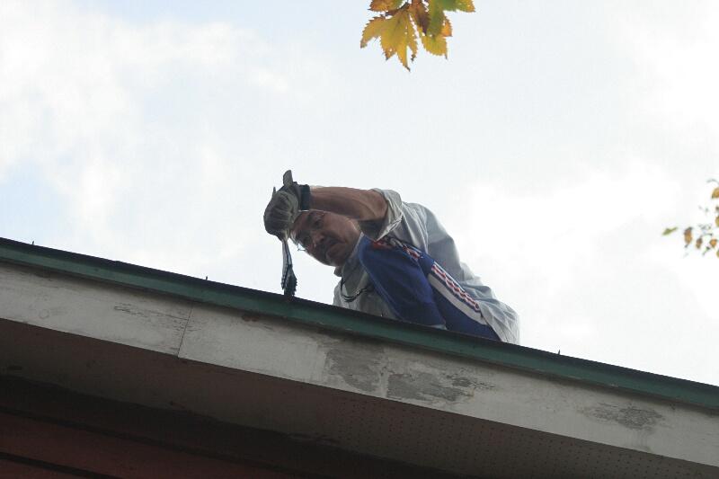 屋根のペンキ塗り!_d0070814_1675065.jpg