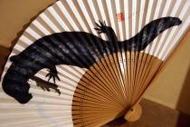 芸工展2008~アメリカドクトカゲの木版扇子@スペース小倉屋_f0006713_027579.jpg
