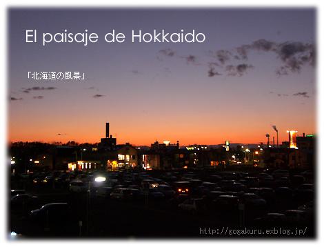 【スペイン語】写真「北海道の夕暮れ」/「-ar,-er,-ir動詞」_e0132084_23262236.jpg
