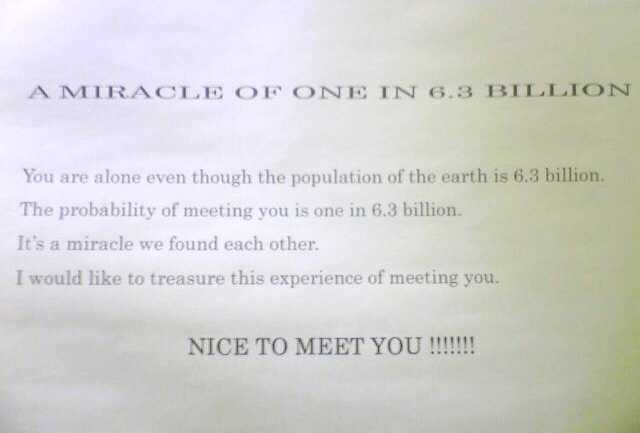 A MIRACLE OF ONE IN 6.3 BILLION!_e0142585_21164871.jpg