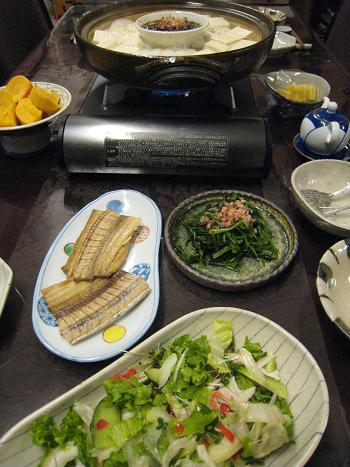 また、いつもの夕食から始めます。_c0119197_12572151.jpg