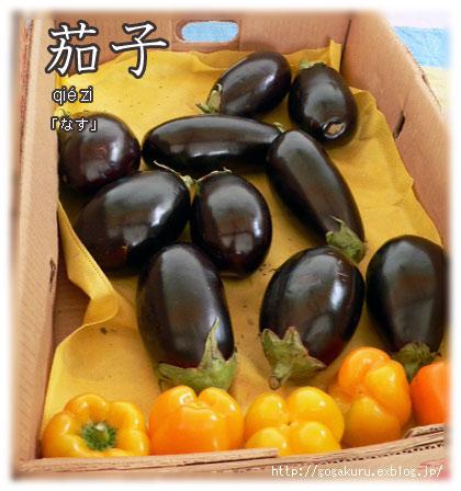 【中国語】写真「茄子(なす・チエズ)」/文末助詞「吧」_e0132084_22371198.jpg