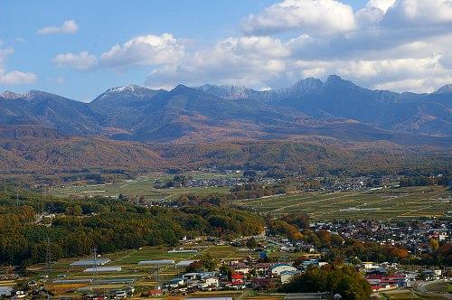 朝倉山城跡から望む八ヶ岳_d0102327_127590.jpg