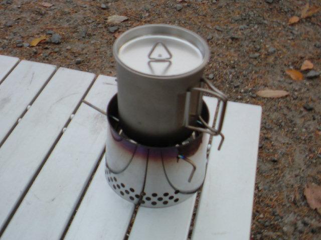 『登山用ストーブ・バーナーの軽量化』湯沸かしに …