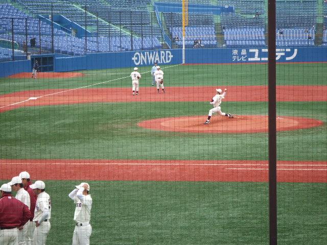 早慶戦観戦――初めての斎藤佑樹投手_e0123104_6561254.jpg