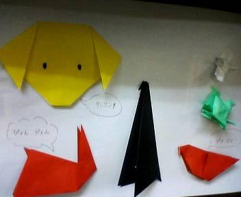 子育てサロンの折り紙_b0106766_1658398.jpg