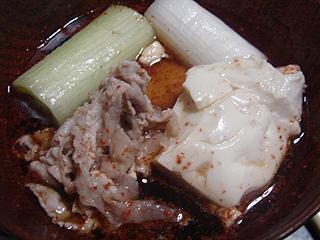 豚しゃぶ湯豆腐_c0025217_1123633.jpg