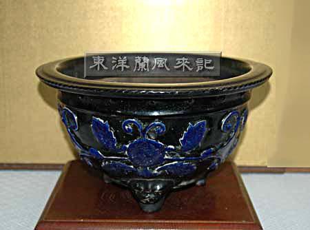 京楽焼き植木鉢                    No.417_d0103457_2302771.jpg