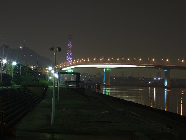 坂町平成ヶ浜の美しき夜景散歩⑤坂なぎさ公園と広島ベイブリッジ_b0095061_9451612.jpg
