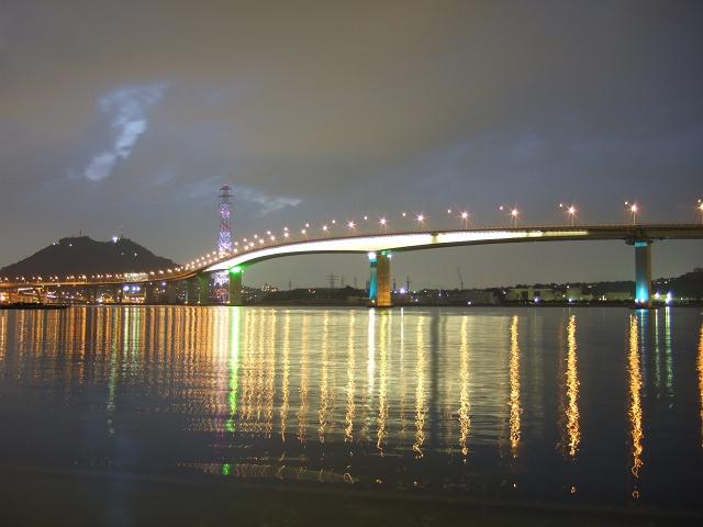 坂町平成ヶ浜の美しき夜景散歩⑤坂なぎさ公園と広島ベイブリッジ_b0095061_946057.jpg