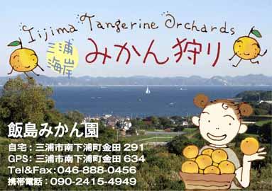 三浦海岸「飯島みかん園」のラベル_f0131628_0514432.jpg