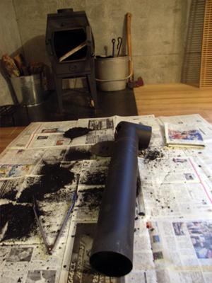 煙突掃除と初焚き_b0038919_10282482.jpg