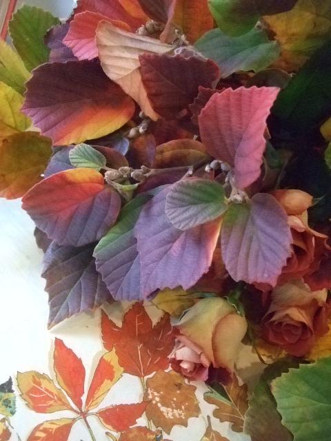オークリーフ(白花万作とレオニダスの花束)_f0049672_13471755.jpg