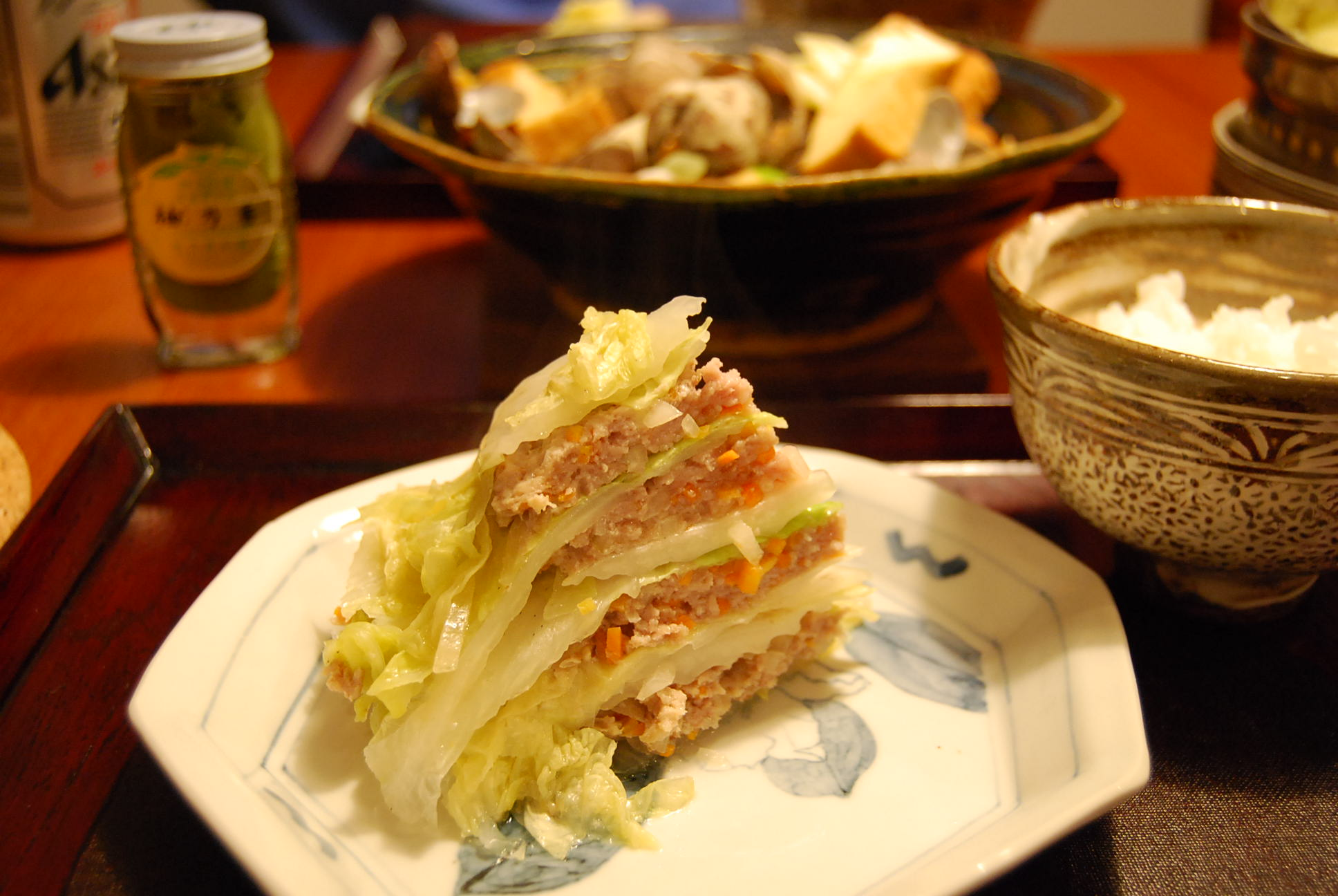 豚ひき肉と白菜の蒸し物_e0142956_910368.jpg
