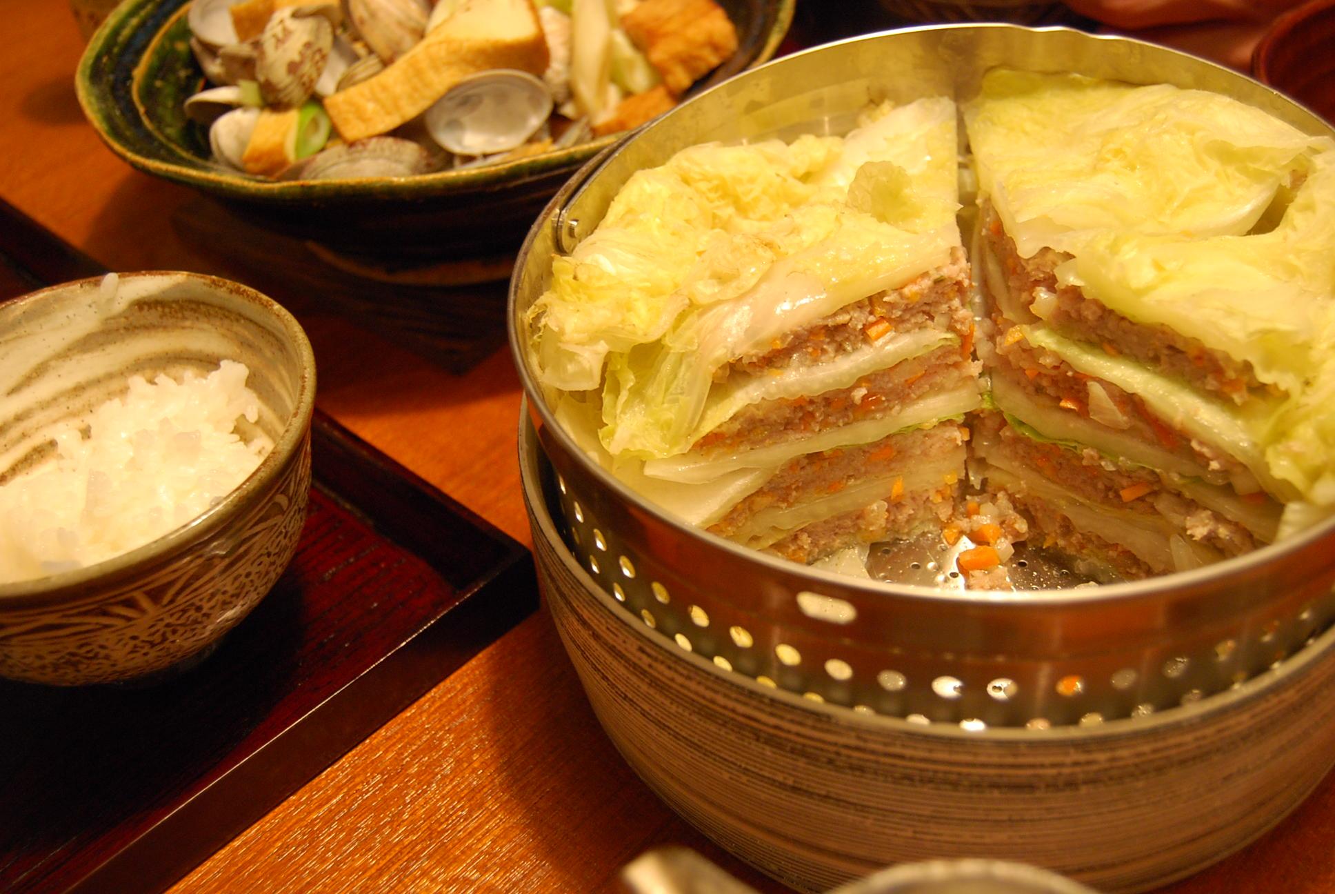 豚ひき肉と白菜の蒸し物_e0142956_99161.jpg