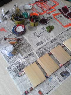 藍画廊での小品展の準備_c0131063_1293924.jpg
