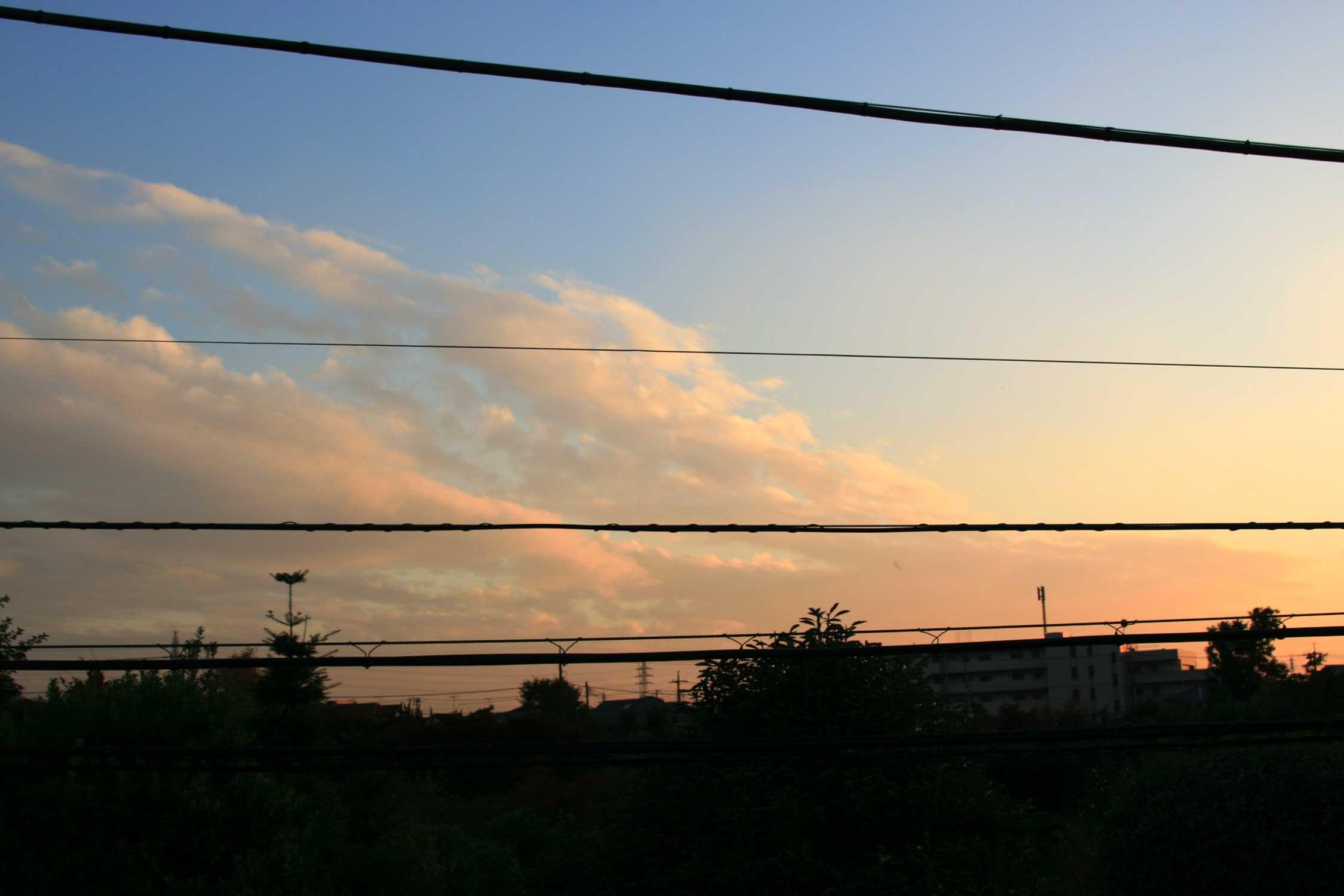 晴れた日の夕方 _f0141609_1952490.jpg