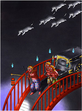 """『戸川純一郎イラストレーション展 """"夜の猫""""』は終了しました。_f0138928_13455920.jpg"""