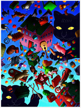 """『戸川純一郎イラストレーション展 """"夜の猫""""』は終了しました。_f0138928_13462229.jpg"""