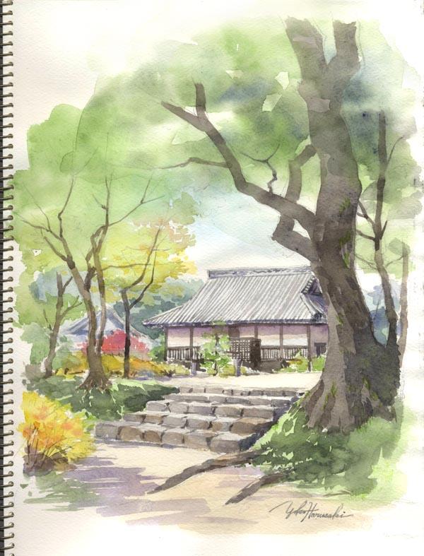【太宰府】秋のスケッチ会_f0176370_1955692.jpg