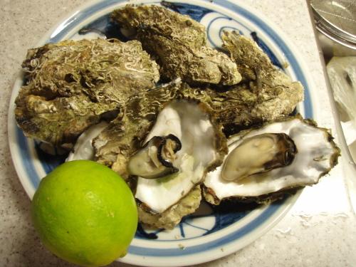 伊万里湾の牡蠣と自家製レモン _a0077071_10543355.jpg