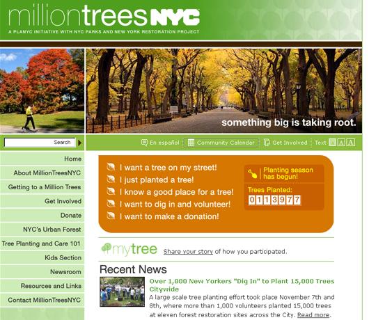 都市緑化プロジェクトでも、パブリックアート MillionTreesNYC_b0007805_13542671.jpg