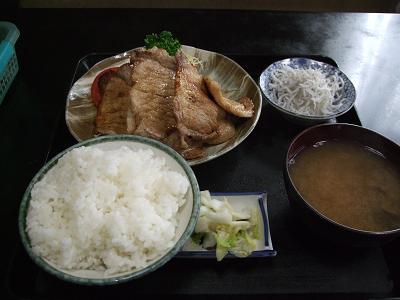 キッチンひの@東村山のしょうが焼定食_d0044093_2046159.jpg